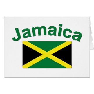 Bandera jamaicana tarjeta de felicitación