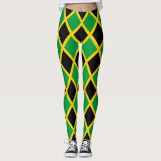 Bandera jamaicana tejada leggings
