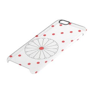 Bandera japonesa de las rayas funda transparente para iPhone 6/6s