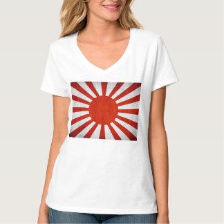 Bandera japonesa del Grunge Camiseta