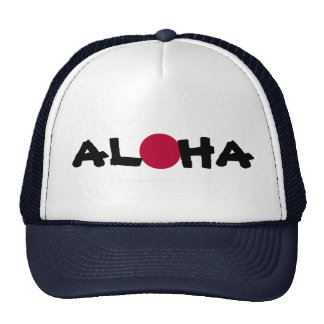 Bandera japonesa del sol naciente de Hawaii de la Gorro