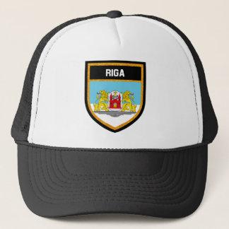 Bandera l de Riga Gorra De Camionero