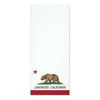 Bandera Lakewood del estado de California Invitación 10,1 X 23,5 Cm