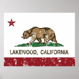 Bandera Lakewood del estado de California Impresiones
