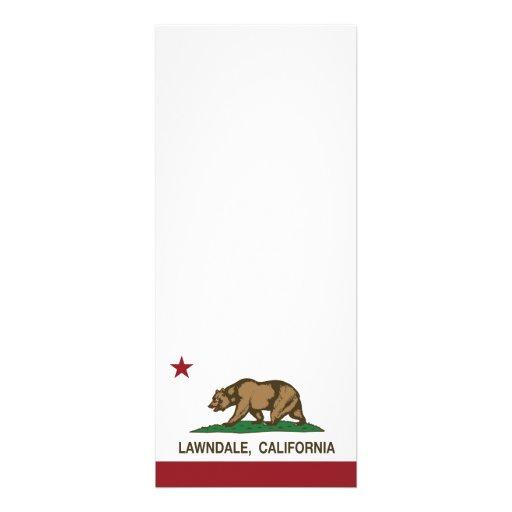 Bandera Lawndale del estado de California Anuncios Personalizados