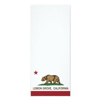 Bandera Lemon Grove del estado de California Invitaciones Personales