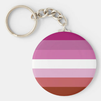 Bandera lesbiana del orgullo llavero redondo tipo chapa