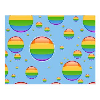 Bandera lesbiana gay de la burbuja del orgullo del postal