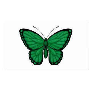Bandera libia de la mariposa plantillas de tarjetas de visita