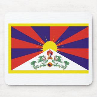 Bandera libre de Tíbet Alfombrilla De Ratón