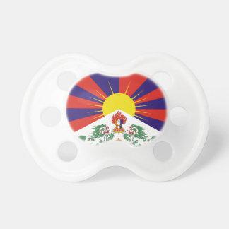 Bandera libre de Tíbet - ་ del བཙན del ་ del རང Chupete De Bebe