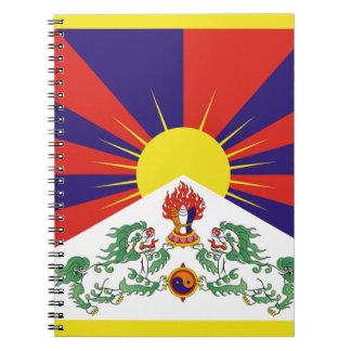 Bandera libre de Tíbet - ་ del བཙན del ་ del རང Cuaderno