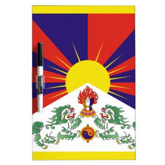 Bandera libre de Tíbet - ་ del བཙན del ་ del རང Pizarra Blanca
