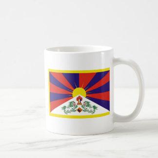 Bandera libre de Tíbet Taza De Café