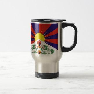 Bandera libre de Tíbet Taza De Viaje