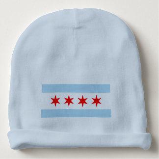 Bandera linda de Chicago Gorrito Para Bebe