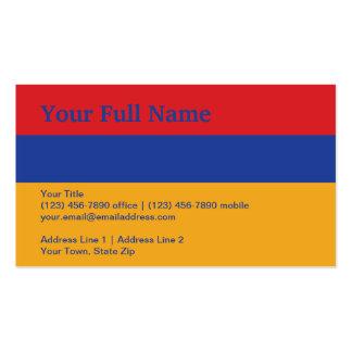 Bandera llana de Armenia Tarjetas De Visita