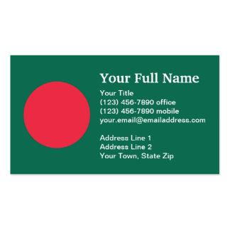 Bandera llana de Bangladesh Tarjetas De Visita