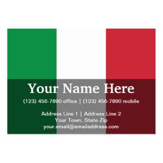 Bandera llana de Italia Tarjetas De Visita Grandes