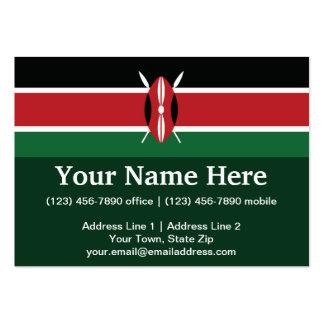 Bandera llana de Kenia Tarjetas De Visita Grandes