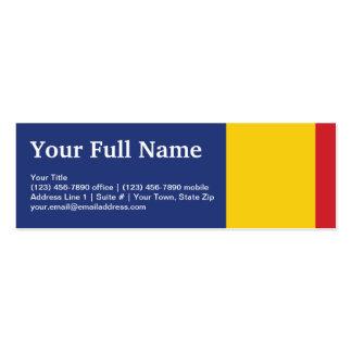 Bandera llana de Rumania Tarjetas De Visita Mini
