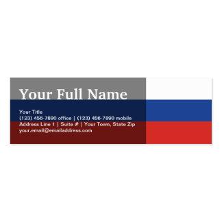 Bandera llana de Rusia Tarjetas De Visita Mini
