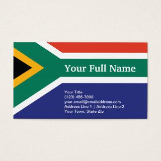 Bandera llana de Suráfrica Tarjeta De Negocios