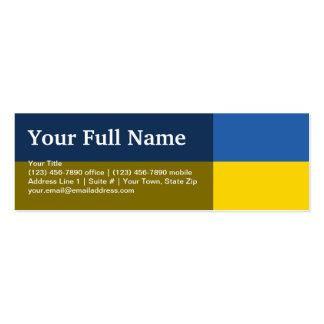 Bandera llana de Ucrania Tarjetas De Visita Mini