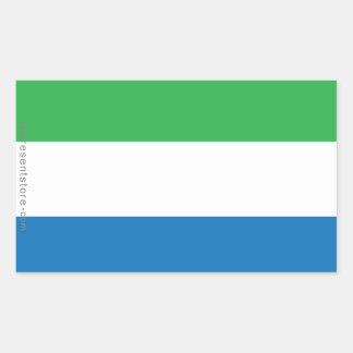 Bandera llana del Sierra Leone Pegatina Rectangular