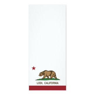 Bandera Lodi del estado de California Invitación 10,1 X 23,5 Cm