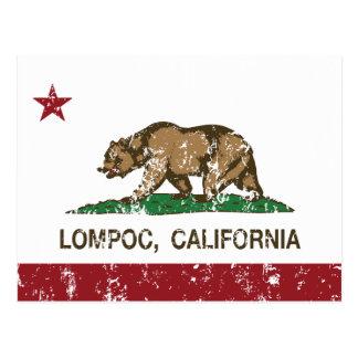 Bandera Lompoc del estado de California Tarjeta Postal