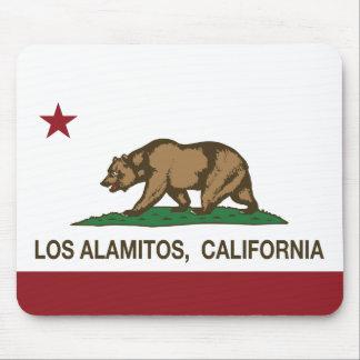 Bandera Los Alamitos de la república de California Alfombrilla De Ratón