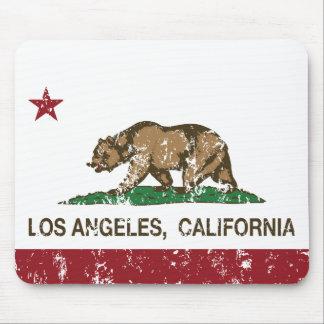 bandera Los Ángeles de California apenado Alfombrilla De Raton