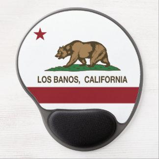 Bandera Los Banos del estado de California Alfombrillas De Ratón Con Gel