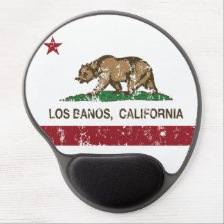 Bandera Los Banos del estado de California Alfombrillas De Raton Con Gel