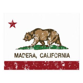 Bandera Madera del estado de California Postal