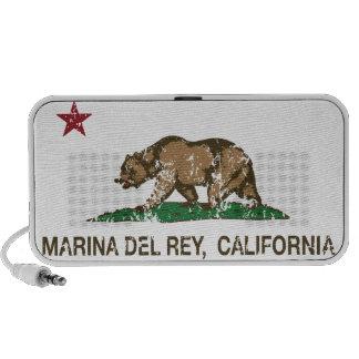 Bandera Marina Del Rey de la república de Californ Portátil Altavoz