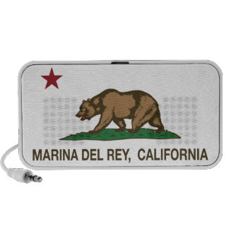 Bandera Marina Del Rey de la república de Californ Notebook Altavoz