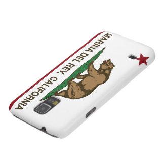 Bandera Marina Del Rey de la república de Californ Fundas De Galaxy S5