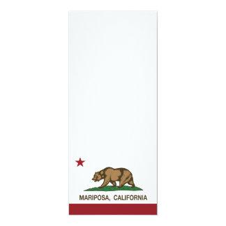 Bandera Mariposa de la república de California Invitación 10,1 X 23,5 Cm