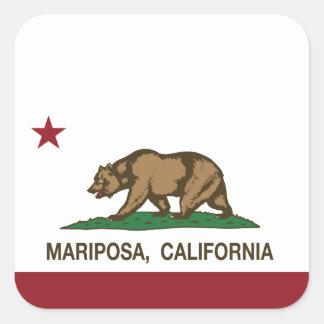 Bandera Mariposa de la república de California Calcomanía Cuadradas Personalizada