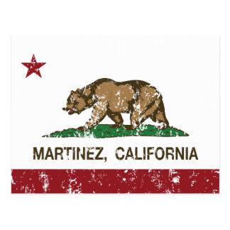 Bandera Martínez del estado de California Tarjeta Postal