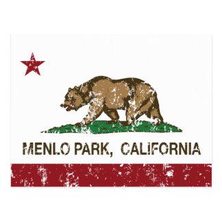 Bandera Menlo Park del estado de California Tarjetas Postales