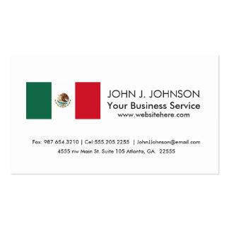 Bandera mexicana clásica tarjetas de visita
