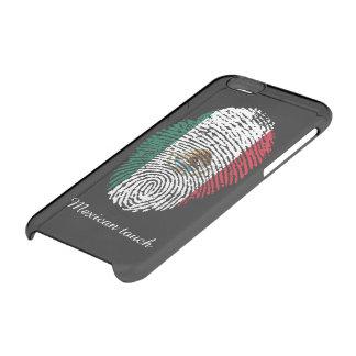 Bandera mexicana de la huella dactilar del tacto funda transparente para iPhone 6/6S