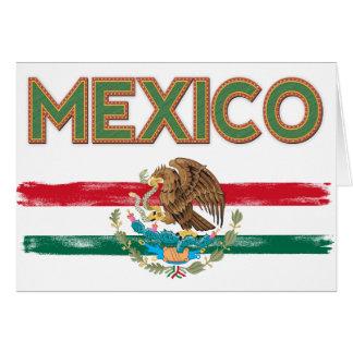 Bandera mexicana de México Tarjeta De Felicitación
