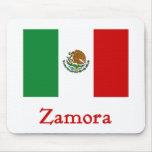 Bandera mexicana de Zamora Alfombrilla De Ratón