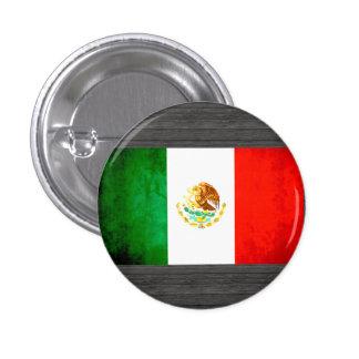 Bandera mexicana del contraste colorido chapa redonda 2,5 cm