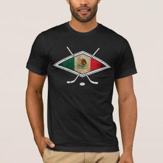 Bandera mexicana del hockey sobre hielo camiseta