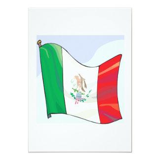 Bandera mexicana invitación 12,7 x 17,8 cm